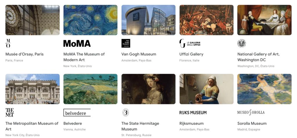 Visiter des musées en ligne durant la quarantaine