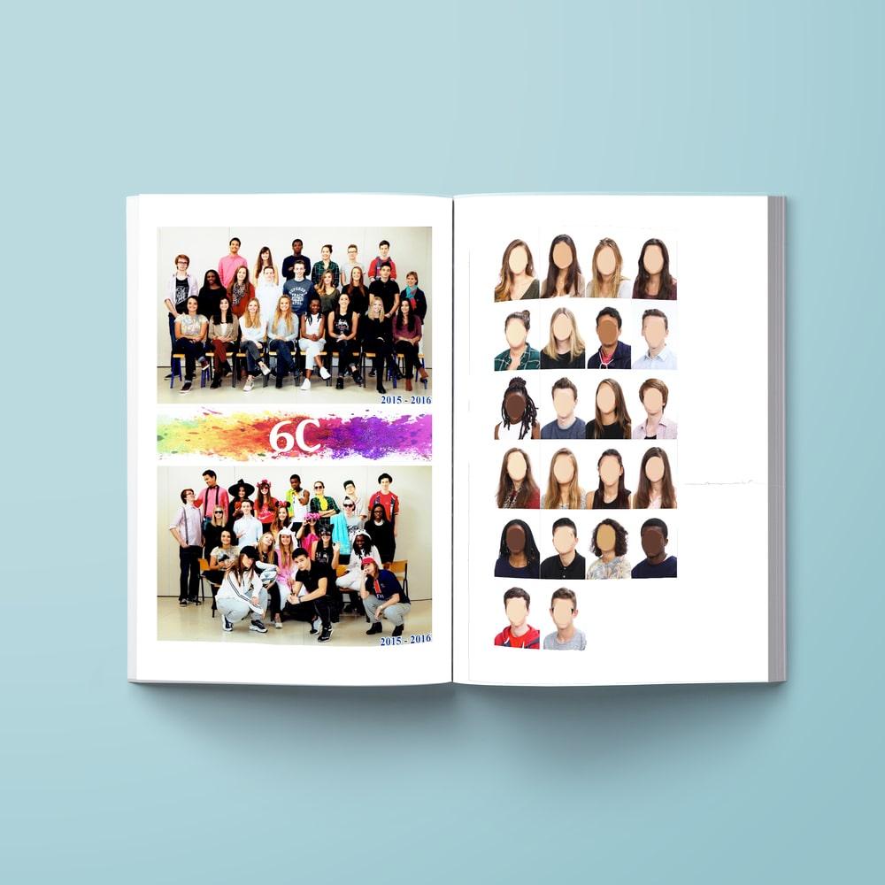 Livre souvenir portraits d'élèves