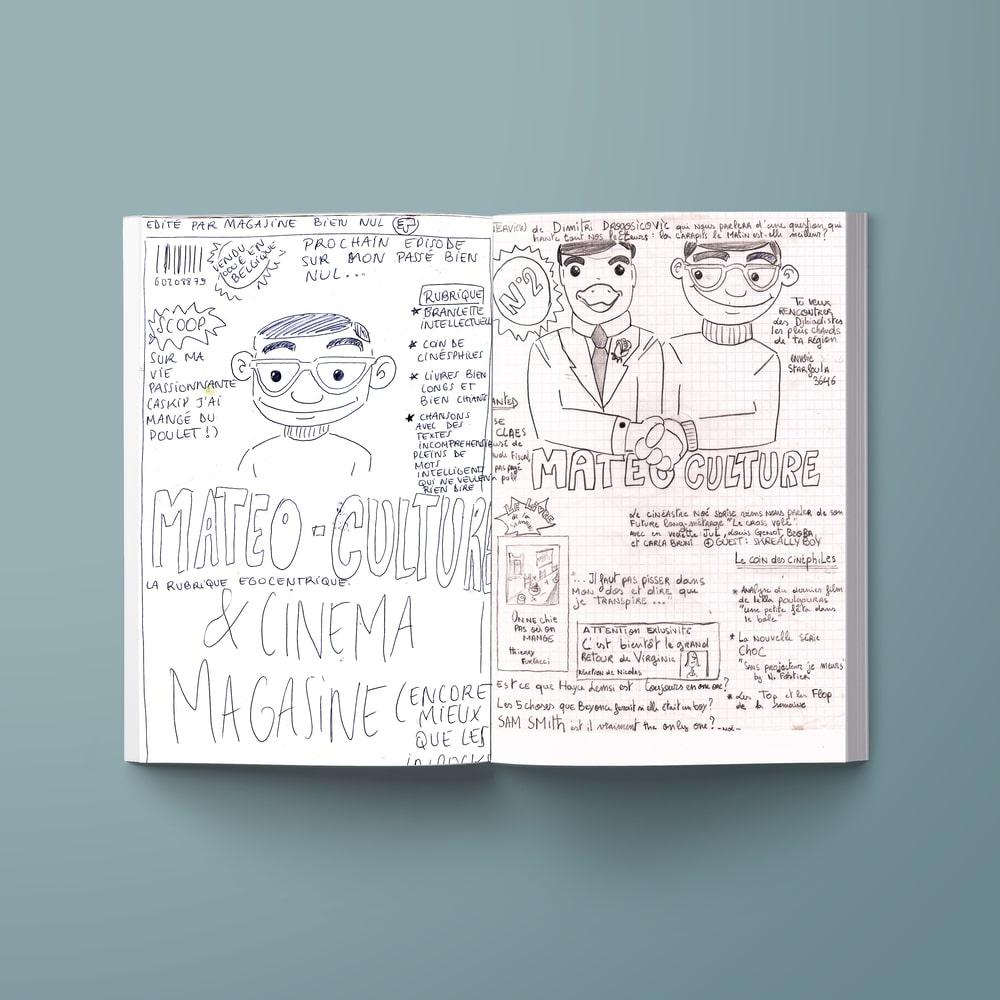 Impression de dessin dans yearbook