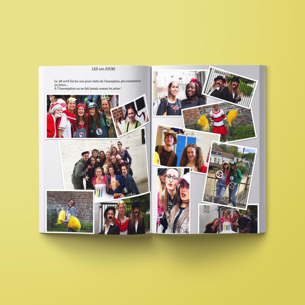 Livre souvenir montage photos