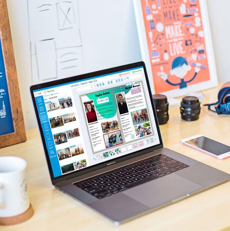 Application pour créer un yearbook en ligne