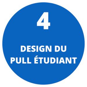 Design du pull étudiant