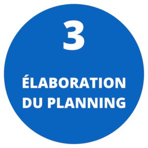 Elaboration du planning